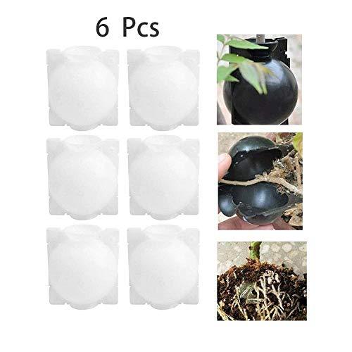 QSs-Ⓡ Kunststoffkugel zum Pfropfen von Pflanzen, Pflanzenwurzelvorrichtung Hochdruckausbreitungskugel Hochdruckkastentransplantation, zur Wurzelzüchtung bei der Gartenpfropfung