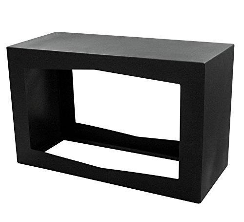 YERD Holzbox: stabiles Kaminholz-Regal 80x50x35cm in echtem Corten-Stahl oder Stahl schwarz/anthrazitt, verschweißtes Stahl-Regal stapelbar (Stahl schwarz 1,6mm)