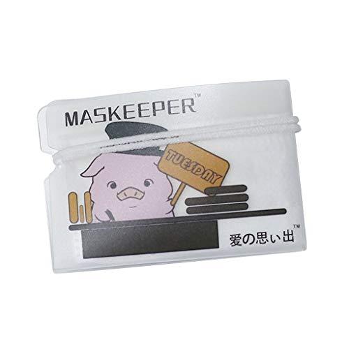 FDSK Máscara de almacenamiento caja de plástico Máscara Máscara organizador del almacenaje del clip Mascarillas portátiles y limpio Organizador de máscara de recorte temporal reciclable no tóxico Guar