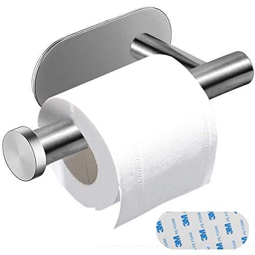 Porte Papier Toilette Inox, BETOY Auto-Adhésif Support de Papier Toilette Porte Rouleau Papier WC avec 3M Adhésif pour Salle de Bain et Cuisine, Aucun Perçage Requis Argent