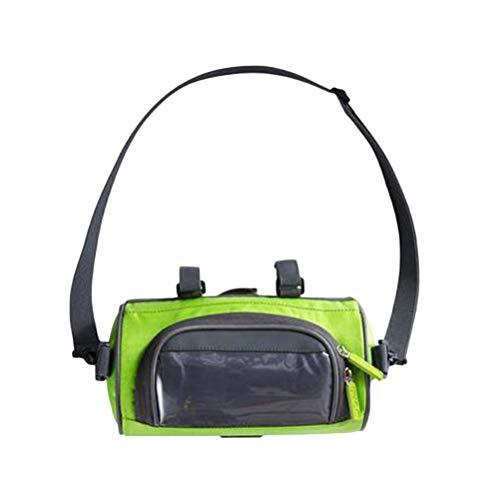 BESPORTBLE Fahrradlenker Tasche Mode Fahrrad Telefon Tasche wasserdichte Fahrrad Fronttasche für Fahrradaufbewahrung Radfahren (Grün)