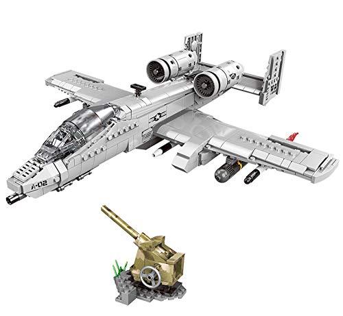 Modbrix Bausteine Flugzeug A-10 Thunderbolt Warthog, 961 Klemmbausteine
