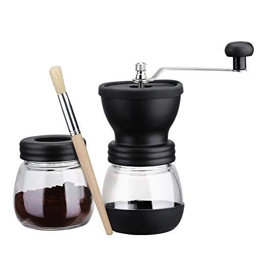 Manuelle Kaffeemühle, mit Vorratsglas Weiche Bürste Konischer Keramikgrat Leise und tragbar