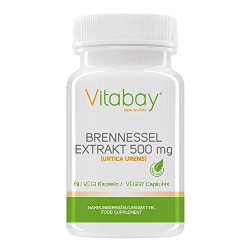Vitabay Brennnessel 500 mg • 60 Vegi Kapseln • Pflanzlich und natürlich • Made in Germany