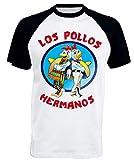 SHIRT T Los Pollos Hermanos Maglietta Breaking Bad Maglia (L)