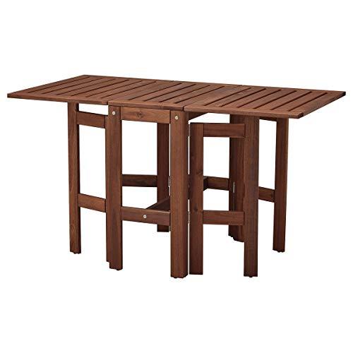 IKEA ÄPPLARÖ Gateleg stół, na zewnątrz brązowo bejcowany