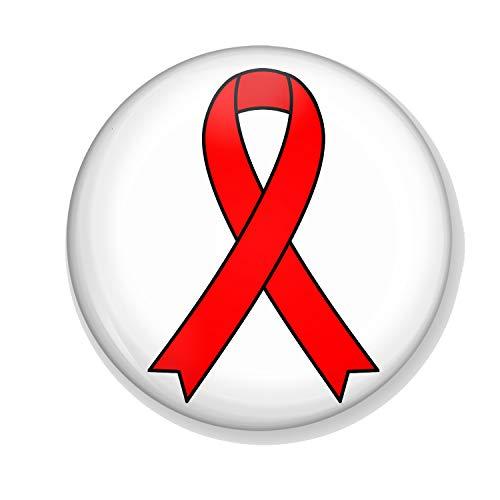 Gifts & Gadgets Co. HIV Kühlschrankmagnet aus Metall, 38 mm, rund, bedrucktes Geschenk