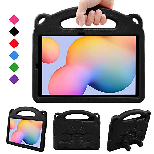 BelleStyle Kids Case for Galaxy Tab S6 Lite 10.4 2020, Shockproof Protective Case Kids Friendly Handle Stand Panda Cover for Samsung Galaxy Tab S6 Lite 10.4 Inch SM-P610/P615 2020 Released, Black