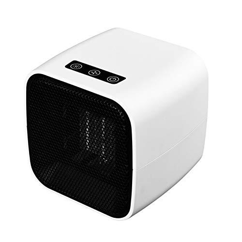 ASY Elektrische Heizung, tragbare Mini-Keramik-Heizlüfter Schnelle Heizung mit Thermostat Personal Heizgeräten Ventilator mit Umkippen und Überhitzungsschutz for Home Office (Color : White)