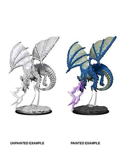 D&D WZK73683 Nolzur's Marvelous Wave 8 - Unpainted Miniatures - Young Blue Dragon