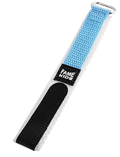 Tela Velcro banda reloj reloj de pulsera reloj de pulsera banda para banda de pulsera color azul claro rp8323522048Puente ancho 22mm, longitud total: 15cm, grosor de la cinta 3mm