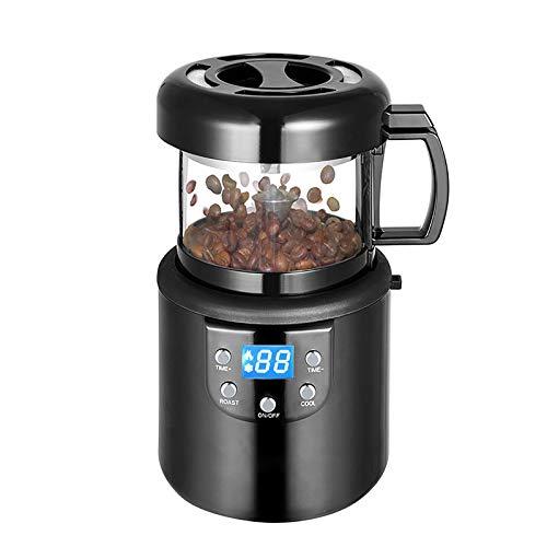 QinWenYan Máquina Tostadora de Café Café Máquina De Asado De Aire Caliente Inicio Automático Máquina De Tostado De Café Caliente. para Hornear Granos de Café (Color : Black, Size : 15.7x27.3x15.8cm)