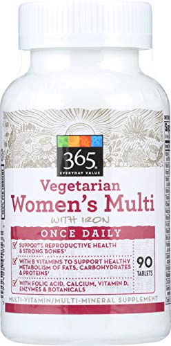 365 Everyday Value, Vegetarian Women's Multi with Iron, 90 ct