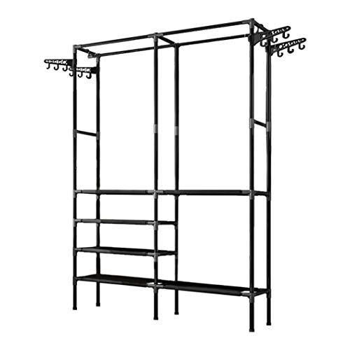 CWGMG Clothes Rail Rack Garment Heavy Duty Hanging Display Stand Shoe Storage Shelf
