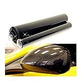YBMY 1 Pieza DIY 50 * 1 0 cm 5D Fibra de Carbono Etiquetas de Vinilo Pegatinas de automóvil Negro Ajuste para automóviles Accesorios de decoración de Motocicletas