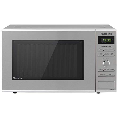 Panasonic Microwave Oven NN-SD372S Stainless Steel Countertop/Built-In with Inverter Technology and Genius Sensor, 0.8 Cu. Ft, 950W (Renewed)