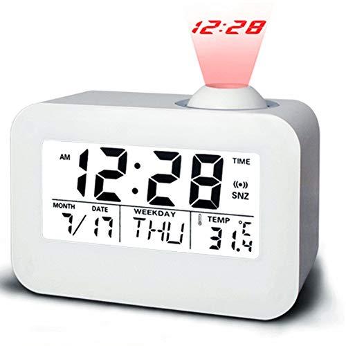 TUANTALL Uhr mit projektion digital wecker Kinderwecker Projektionswecker Kinderuhr Tischuhr intelligenter Wecker Schlafzimmer Uhr Projektionsuhr