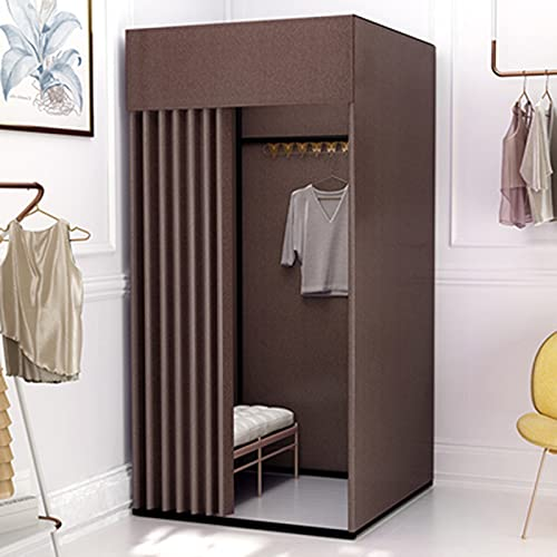 SHIJINHAO Portable Locker Room, Privacy Protection Cut Off Occlude Shading Cloth Bold Metal Bracket Can Be Used For Temporary Display Stands In Large Shopping Malls