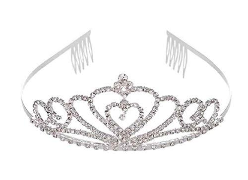 Lovelegis Corona - Corona - Tiara - niña - niña - Mujer - Diamantes de imitación Brillo Brillante - Princesa Reina Novia Dama damisela
