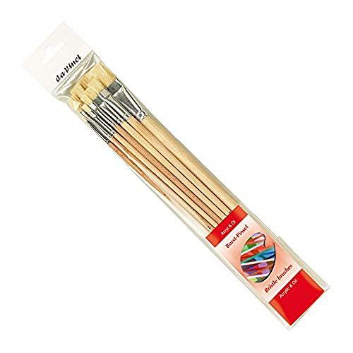 DA VINCI Set di pennelli Serie 5293, Setole, Rosso/Trasparente, 30 x 30 x 30 cm