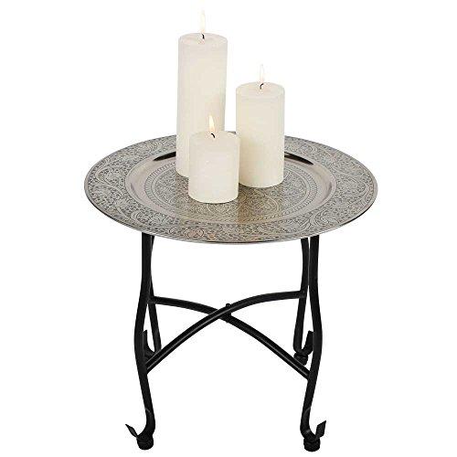 albena shop 73-105 Navin mesa de té oriental mesa plegable con bandeja ø 40 x 36 cm metal
