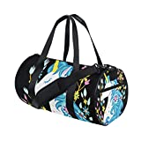 WowPrint - Bolsa de deporte para gimnasio, diseño de unicornio, impermeable, bolsa de yoga, para el hombro, bolsa de viaje, bolsa de viaje para adultos, hombres, mujeres, unisex