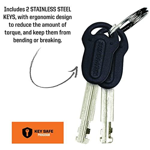 Kryptonite Keeper 785 Integrated Bicycle Lock Chain Bike Lock, 33.5-Inch