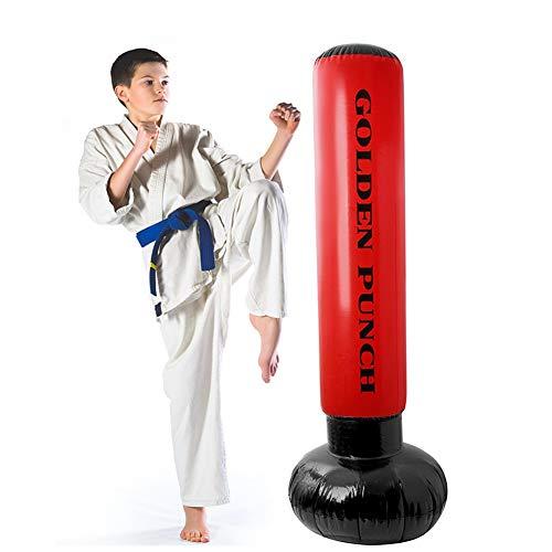 170 Cm Inflable de Pie Saco de Boxeo Saco de Boxeo, Fitness Saco de Arena Bolsas de Arena para Aliviar El Estrés Bolsa de Torre de Destino Bolsa de Entrenamiento de Boxeo para