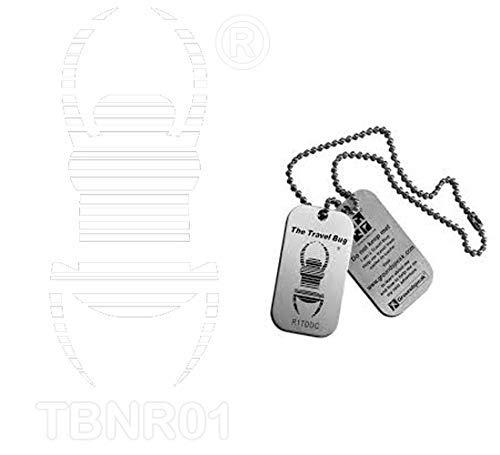 GEO-VERSAND Standard Aufkleber Tb- Geocaching Travelbug Trackbar, SCHWARZ geocaching aufkleber Autoaufkleber tb Sticker , L