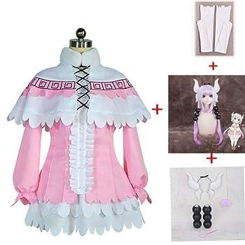 SSXZ Anime Kanna Kamui Cosplay Costume Skirt Fashion wig Cloak Sets Clothes Miss Kobayashi s Dragon Maid Kanna Anime Party Cosplay For Women L Skirt Fashion wig Accessorie