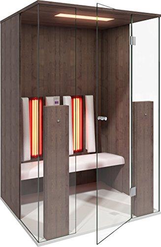 b-intense Infrarotkabine | Infrarotsauna Sauna Infrarot Rotlicht Wärmekabine Select LINE 2 für Zwei Person Ahorn (braun) by Physiotherm - EIN Angebot von welcon-Wellness.de
