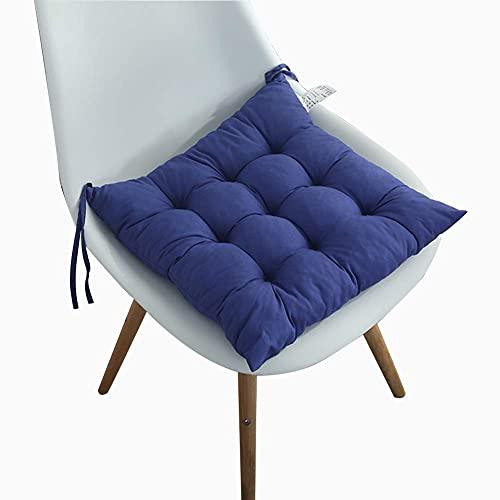 Cojines para sillas Comedor Cojines de Asiento de algodón Puro Cojines Suaves para sillas con Correas Antideslizantes Juego de 4 Cojines para sillas para Interior, Exterior, Cocina, jardín