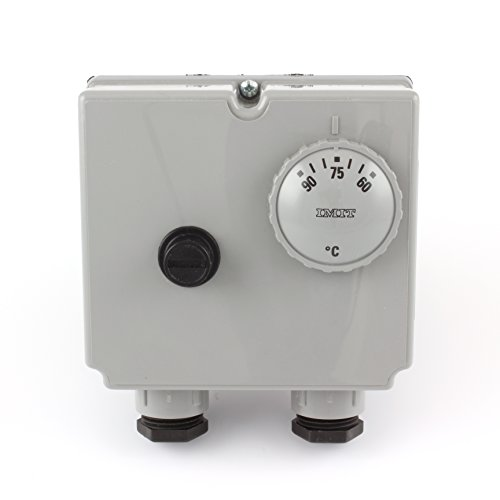 IMIT TLSC 07050 542816 adjustable (60 - 90 Degrees °C) Dual Immersion Thermostat - twin control and manual reset high limit stat for Oil Fired Boiler. by IMIT