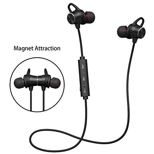 Deporte v4.1 de Bluetooth Auricular,Cascos Bluetooth Inalámbricos Deportivos con Micrófono,Función Magnético,Estéreo HiFi, Tiempo de Juego: 6-8 horas,por Iphone,Xiaomi,Huawei,Sony (Promocion)