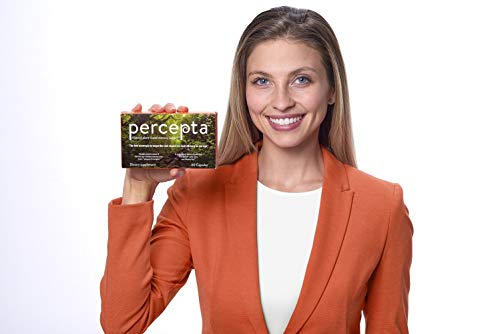 Percepta Memory Supplement - All Natural nootropic Brain Support with Plant-Based polyphenols - 30 Day Supply - scientifically-validated