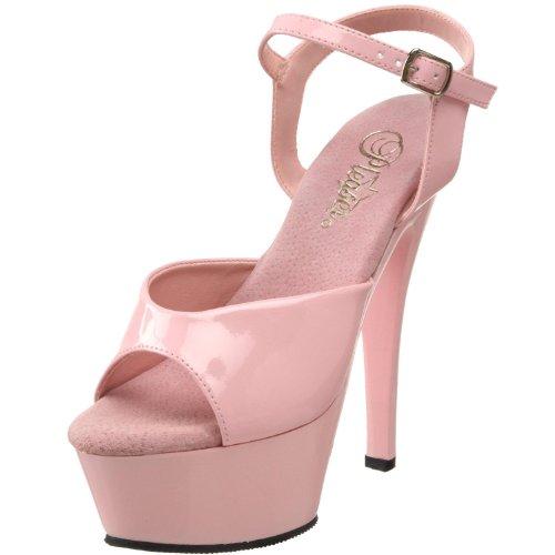 Pleaser Women's KISS-209/BP/M Platform Sandal,Baby Pink Patent,11 M US