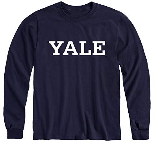 Ivysport Yale University Bulldogs Long Sleeve T-Shirt, Classic, Navy, Large