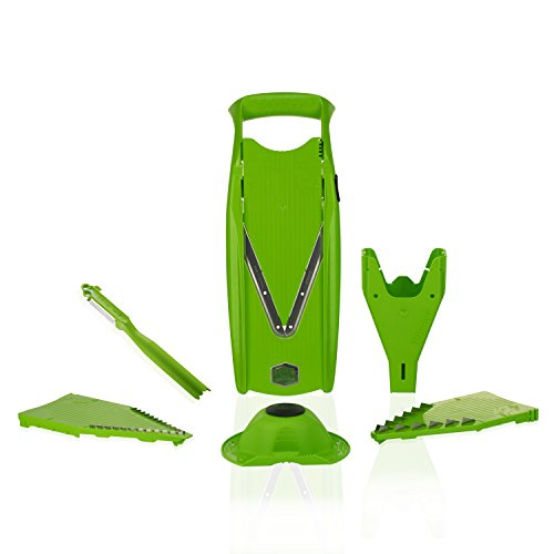 Borner Mandolina V5 PowerLine Plus Set - Sin BPA (verde)