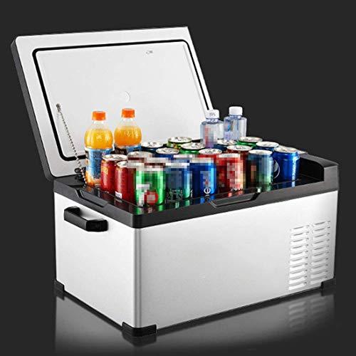 Minirefrigerador portátil, refrigerador para automóvil, refrigerador termoeléctrico silencioso para viajes, hogar, oficina, dormitorio, caravana, camión, refrigerador de entrada dual de 12 V / 240 V,