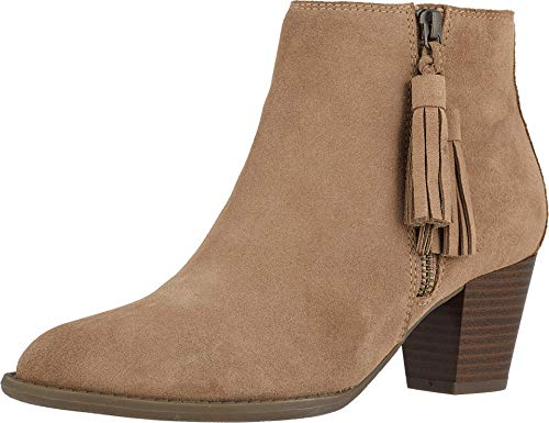Vionic Women's Upright Madeline Ankle Boot - Ladies Booties with Concealed Orthotic Arch Support Wheat 9.5 M US