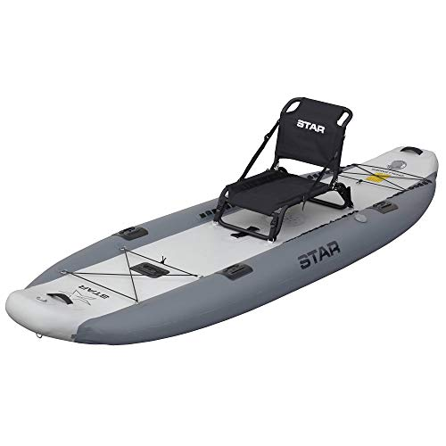 Star Challenger Fishing Inflatable Kayak-Dark Gray