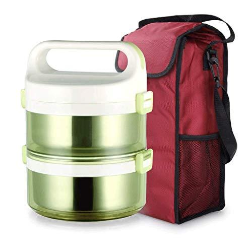 Fiambrera a prueba de fugas de acero inoxidable, Caja Bento con aislamiento |Recipiente térmico para alimentos con bolsa de almuerzo aislada |Libre de BPA |Adultos, Hombres, Mujeres (Color: B)