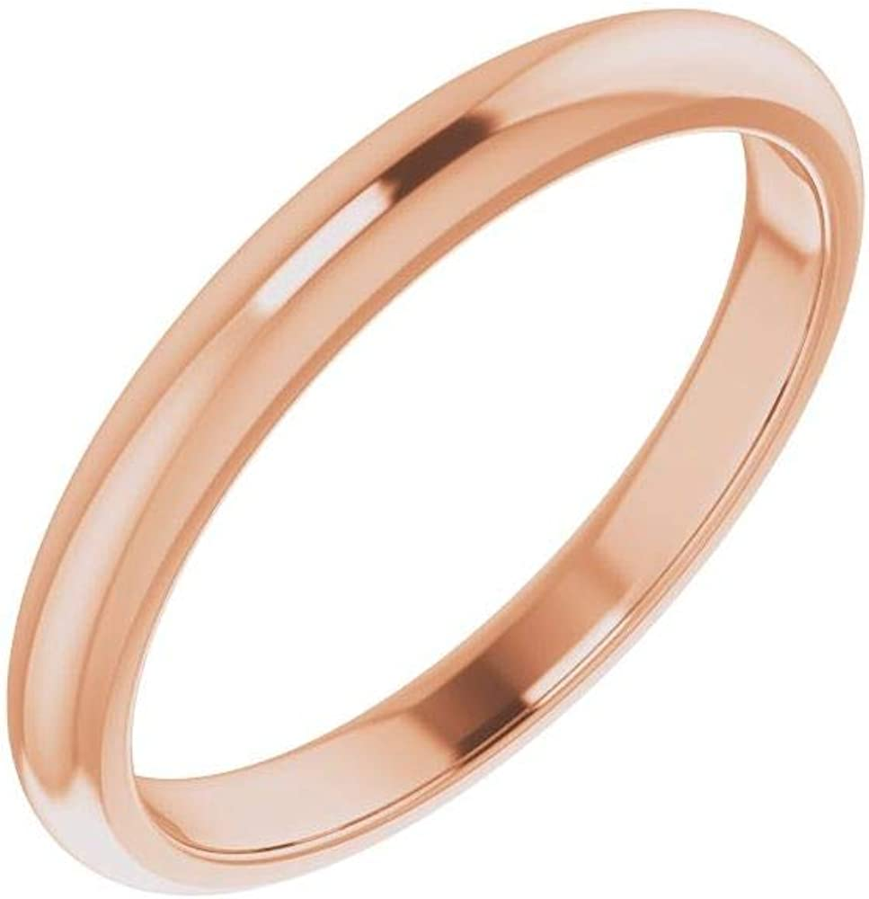 Solid 18K Rose Gold Curved Notched Wedding Band for 5.5mm Square Ring Guard Enhancer - Size 7
