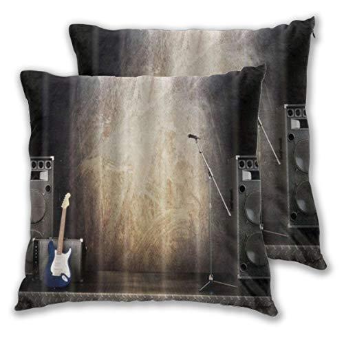 KASABULL 2 Pack Funda de Almohada Equipo de Escenario de música Guitarra...
