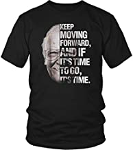 Stan Lee Keep Moving Forward It's Time To Go T Shirt Black Cotton Men S-3XL