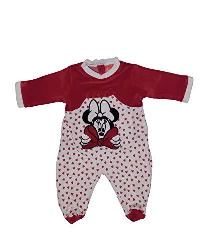 Disney 101392 Schlafanzug Minnie Maus, Rot 0-1 Monate