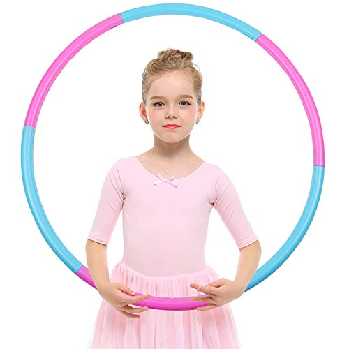 koyasiry Exercise Hoops for Kids - Adjustable Lighted Exercise Hoop - Colorful Plastic Toy Exercise Hoop with Present Kids