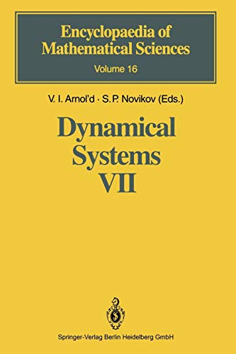 Dynamical Systems Vii: Integrable Systems Nonholonomic Dynamical Systems (Encyclopaedia Of Mathematical Sciences) (Encyclopaedia of Mathematical Sciences, 16, Band 16)