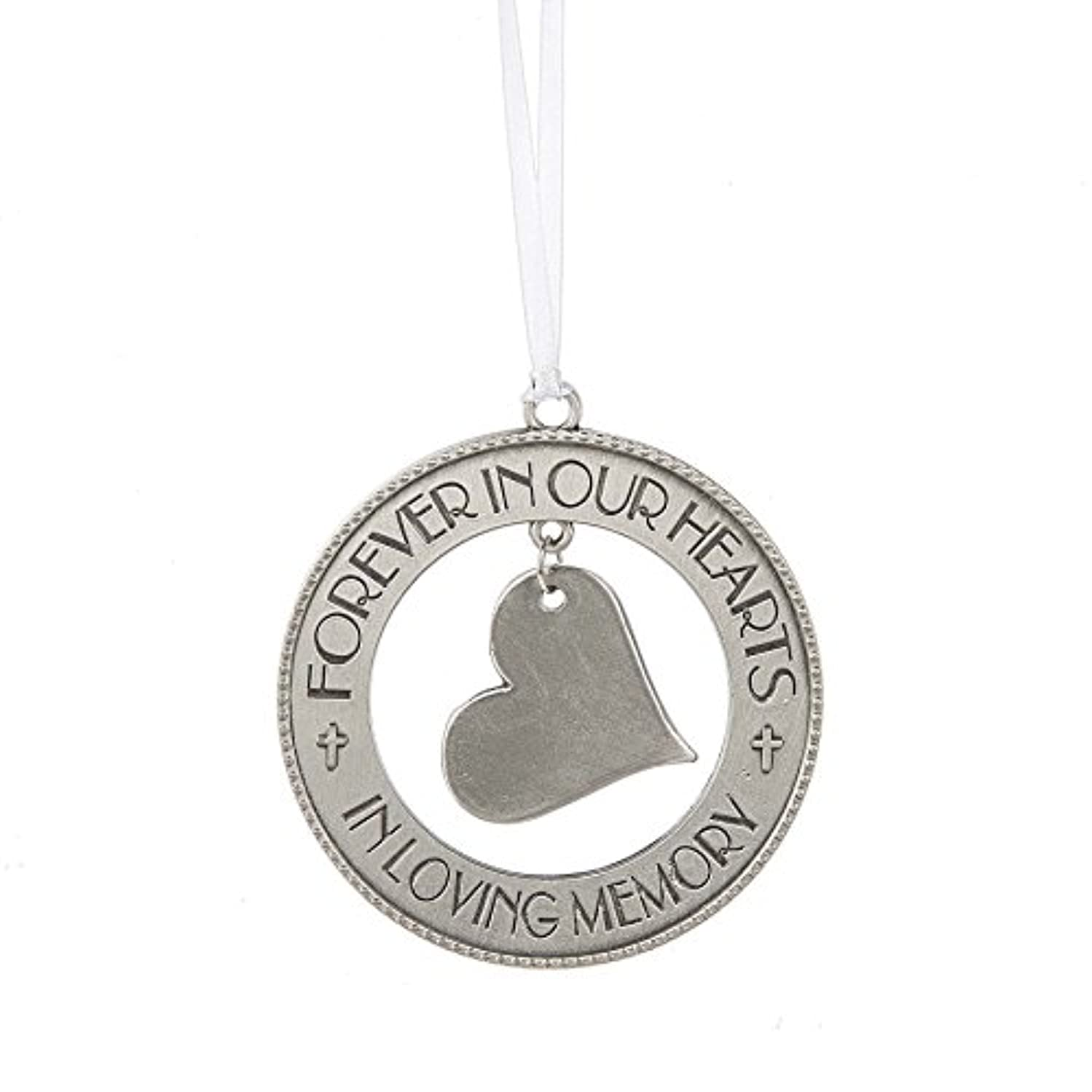Forever in Our Hearts Loving Memory 3 Inch Zinc Christmas Ornament Figurine