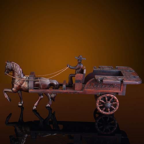 AIZIJI Weinregal Palisander, hochwertige Mahagoni Stereo einzelne Flasche Wagen mit heißem Wachs Weinglashalter